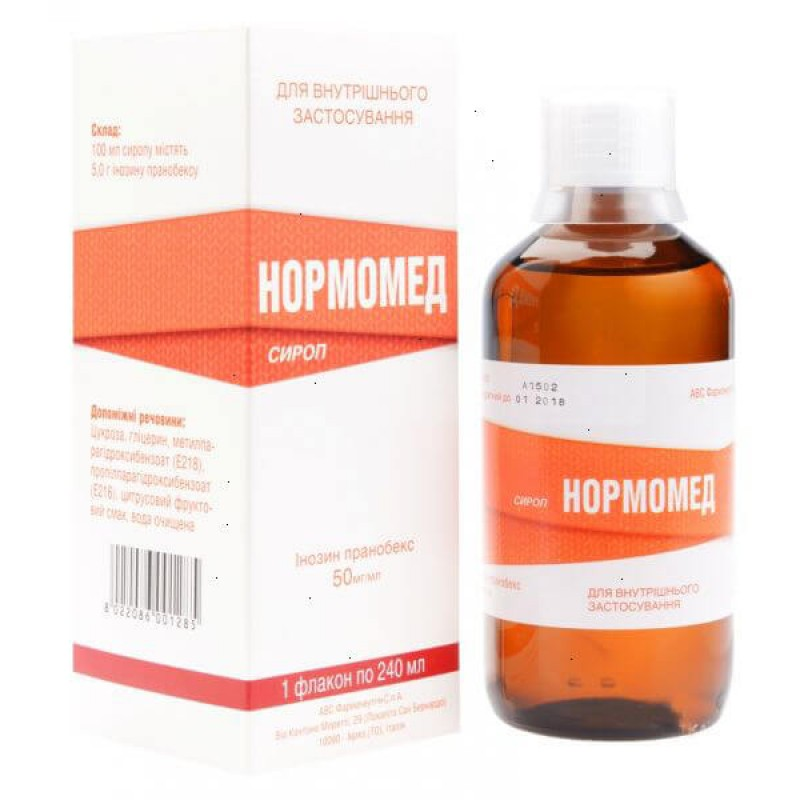 Normomed syrup 50mg/ml 240ml