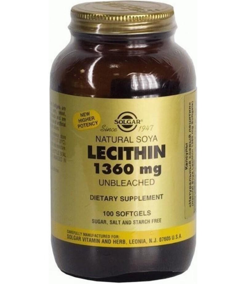 Solgar Natural soya Lecithin caps #100