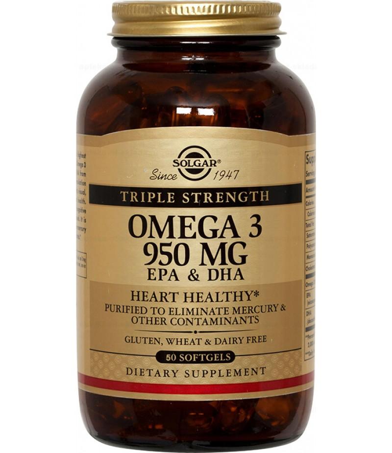 Solgar Triple Omega-3 EPA & DHA caps 950mg #50